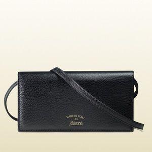 New Gucci Black Crossbody Purse / Wallet / Clutch